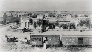 Early 1880a Berthoud Railroad, Berthoud Colorado